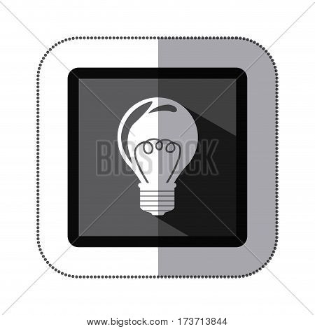 contour bulb icon stock, vector illustraction design image