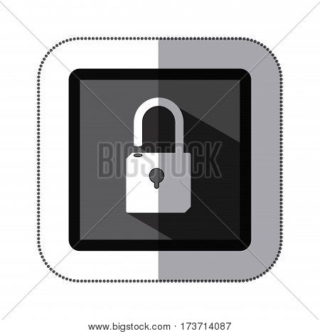 contour lock icon stock, vector illustration design image