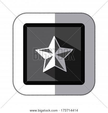 contour star icon image, vector illustration design stock