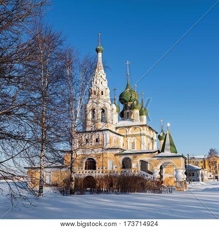 Church of St John the Baptist in Uglich in winter, Russia