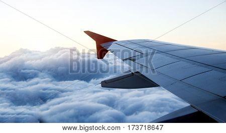 Aeroplane Flight On Cloud