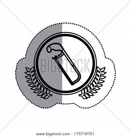 contour symbol hacksaw icon stock, vector illustration design image