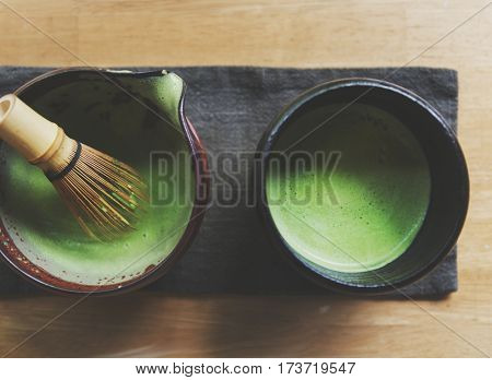 Japanese Matcha Traditional Culture Concept