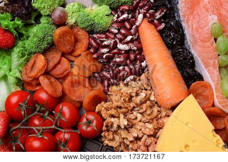 Healthy food, closeup