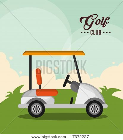 golf club car sport design vector illustration eps 10