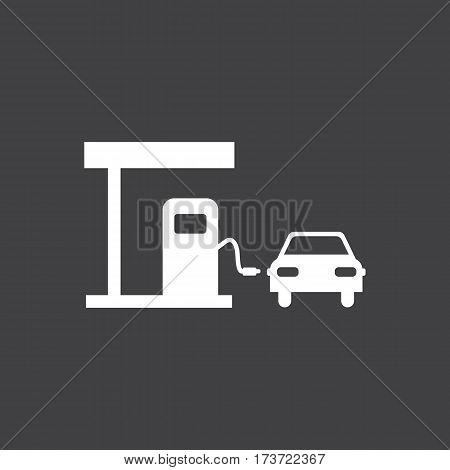 Gas station icon. Car dashboard icon. Vector illustration