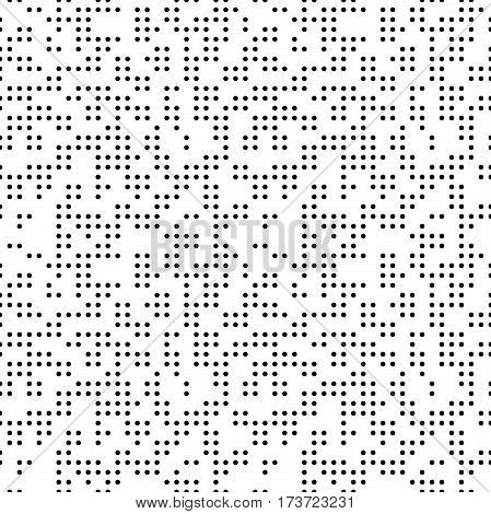 Seamless geometric vector black and whte pattern. Modern ornament with dotted elements. Geometric abstract pattern
