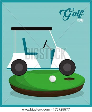 golf club car ball field vector illustration eps 10