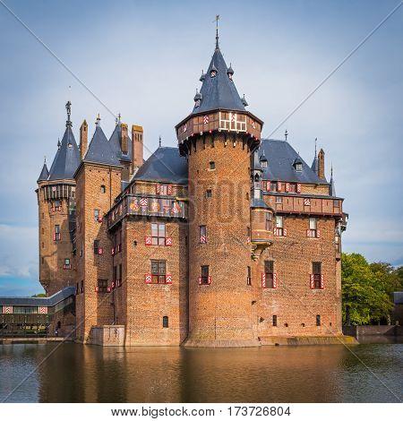Medieval castle  De Haar near Utrecht, the Netherlands