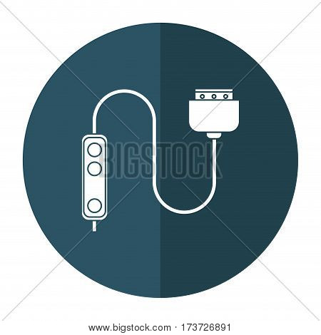 computer cable connection plug shadow vector illustration eps 10