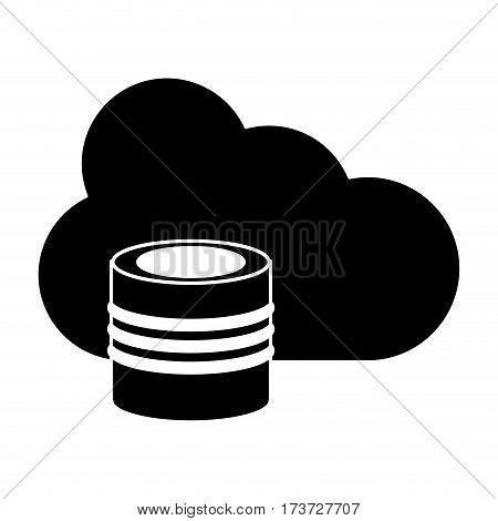 cloud data base technology pictogram vector illustration eps 10