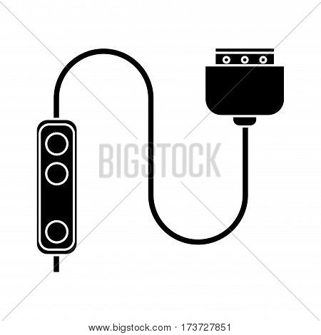 computer cable connection plug pictogram vector illustration eps 10