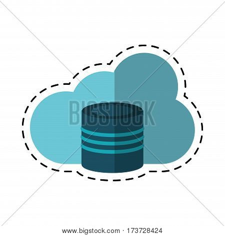 cartoon cloud data base technology vector illustration eps 10