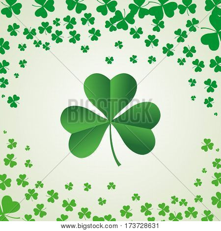Saint Patrick's Day shamrock Background simple flat vector.