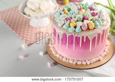 Beautiful composition with Easter cake