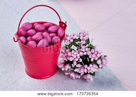 Flowers and container with flowers. Lovely good morning to you.