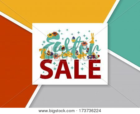 Easter sale design EPS 10 vector royalty free stock illustration for greeting card, ad, promotion, poster, flier, blog, article, marketing, signage, brochure