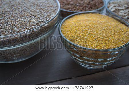 the corn wheat oat buckwheat porridge vegan