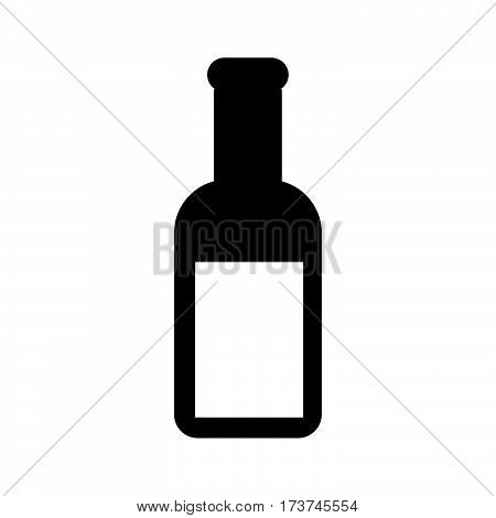 a simple flat black potion icon vector