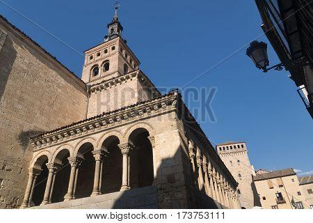 Segovia (Castilla y Leon Spain): exterior of the medieval church of San Martin