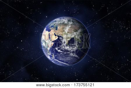 Planet Earth. Eastern hemisphere. This image elements furnished by NASA