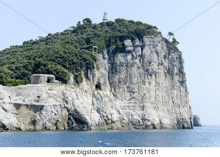 island of tino near Portovenere on italy