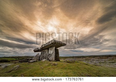 Poulnabrone Portal Tomb In Ireland