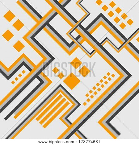 Abstract futuristic background design. Architectural, industrial and scientific design concept works. Lines. Vector illustration.