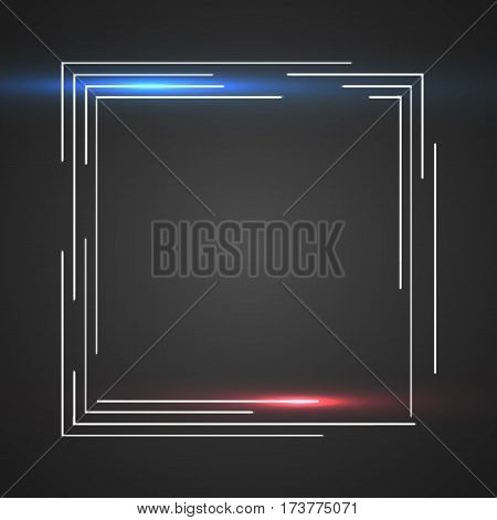 Shiny Dark Square Vector Background Whit Lines Red Purple Blue Illustration