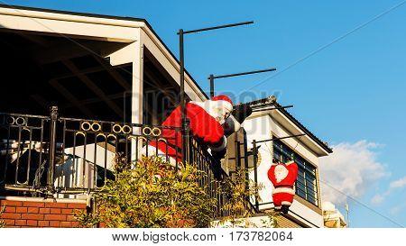 Santa Claus Monument Decoration, Kobe