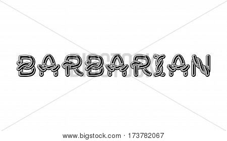Barbarian Logo Lettering Celtic Font. Norse Medieval Ornament Abc. Traditional Ancient Manuscripts A