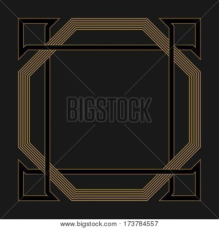 Celtic frame. Greeting cards invitations. Retro style. Logo vector element designe.