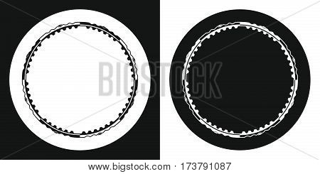 Hula hoop icon. Silhouette hula hoop on a black and white background. Sports Equipment. Vector Illustration