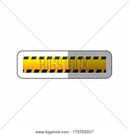 sticker striped hazard tape line construction vector illustration
