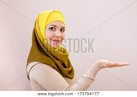Portrait beautiful Arabian Woman wearing Hijab Muslim Woman wearing Hijab