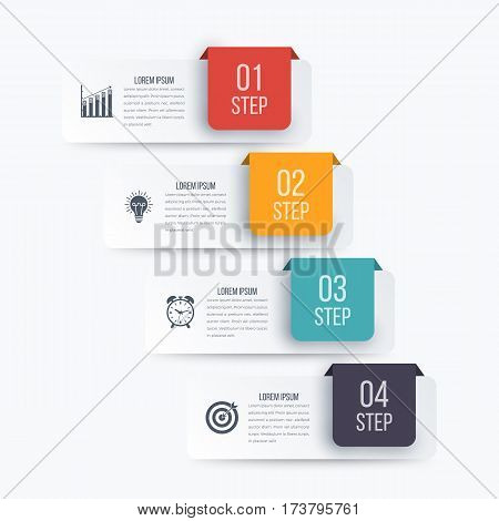 Vector illustration infographics four options. Stock vector