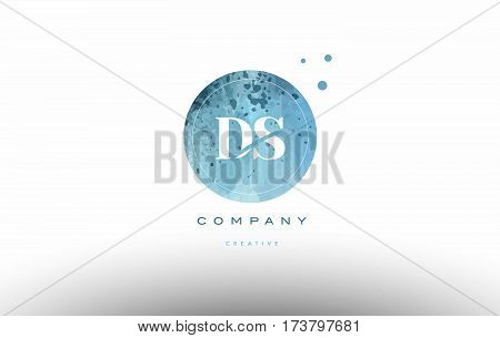 Ds D S  Watercolor Grunge Vintage Alphabet Letter Logo