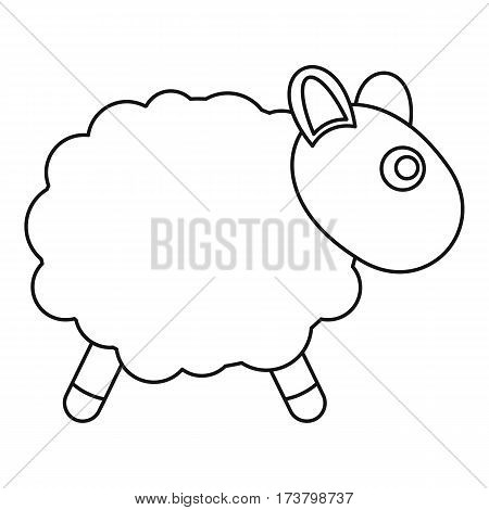 Sheep toy icon. Outline illustration of sheep toy vector icon for web