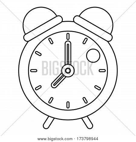 Retro alarm clock icon. Outline illustration of retro alarm clock vector icon for web