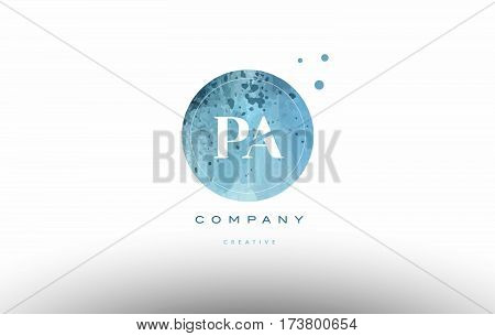 Pa P A  Watercolor Grunge Vintage Alphabet Letter Logo