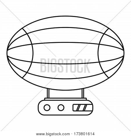 Aerostat airship icon. Outline illustration of aerostat airship vector icon for web