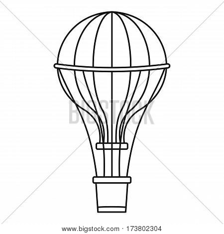 Aerostat balloon icon. Outline illustration of aerostat balloon vector icon for web