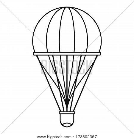 Aerostat icon. Outline illustration of aerostat vector icon for web