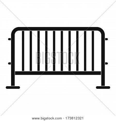Steel barrier icon. Simple illustration of steel barrier vector icon for web