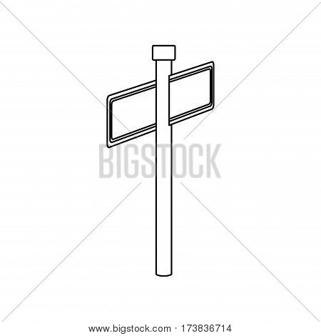 monochrome contour with rectangle shape with metal pointer direction in rear view from left side vector illustration
