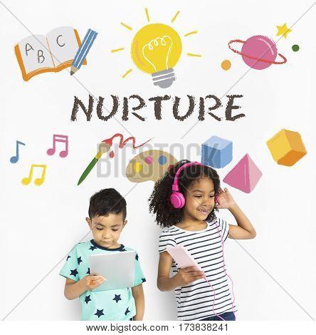 ChildrenLearning Nurture Graphic Icon Symbol