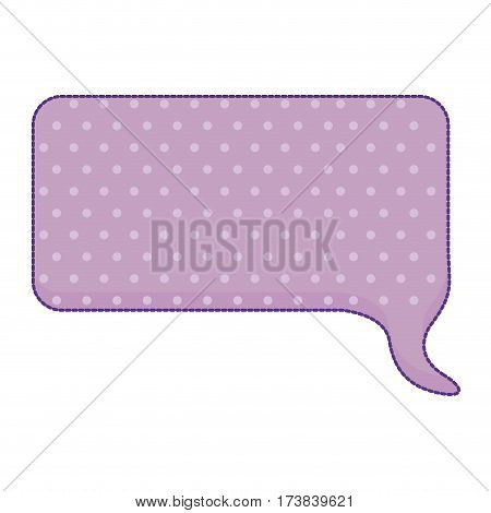 sticker callout for dialogue shape of rectangle with purple background and dots vector illustration