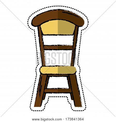 cartoon wooden chair vintage design vector illustration eps 10