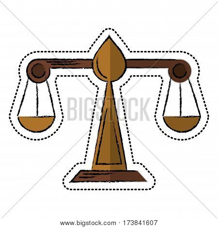 cartoon justice scale law symbol vector illustration eps 10