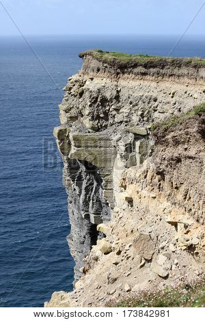Detail of the Cliffs of Moher. County Clare, Ireland